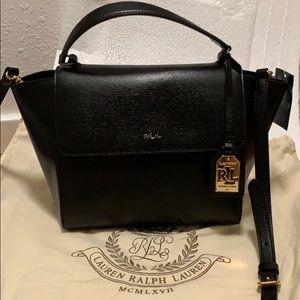 NWT Ralph Lauren NewBurry black leather crossbody
